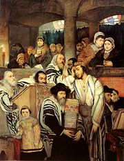 Gottlieb-Jews Praying in the Synagogue on Yom Kippur.jpg